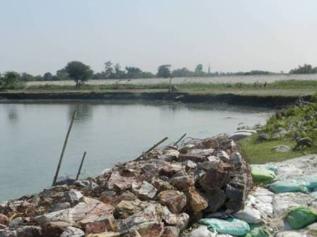 Gabions on river Kosi